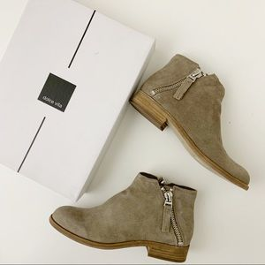 Dolce Vita Taupe Suede Ankle Boot